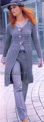 Вязаное пальто спицами описание и схема