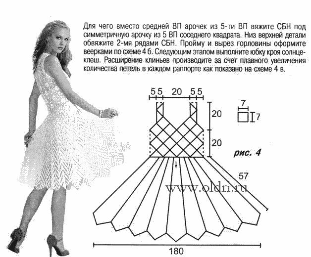 описание вязания крючком ажурного воротничка