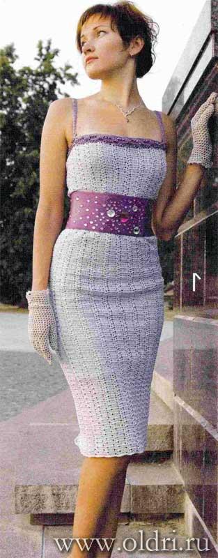 Платье люрекс крючком