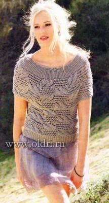 Пуловер схемы вязания