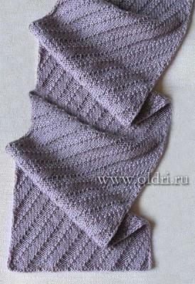 Простой узор для вязания шарфа спицами
