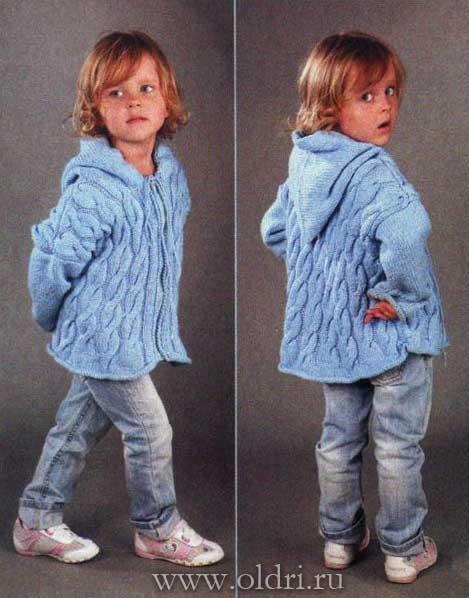 Детский вязаный жакет спицами