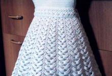 Платье для девочки крючком со схемами