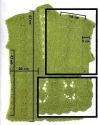 Выкройка вязаного жилета спицами