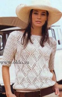 Вязание спицами женского пуловера