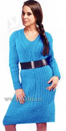 Очаровательное вязаное платье