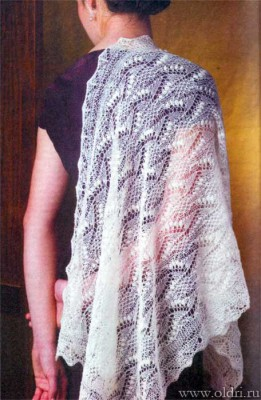 вязание спицами безрукавки ажурной вязкой