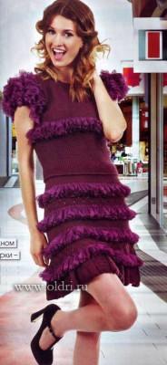 Вязание юбки и топа спицами