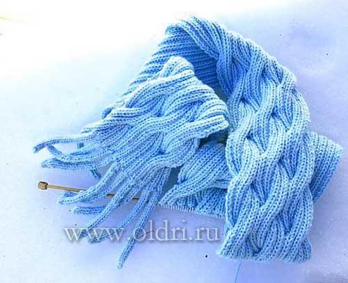 Вяжем шарфы схемы спицами