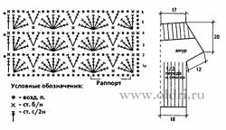 Розовый топ крючком схемы и описание