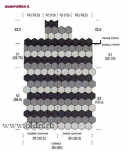 Схема раскладки мотивов для вязания кардигана крючком