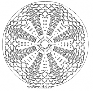 Схема вязания крючком круглого мотива