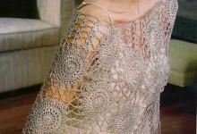 Красивое пончо крючком - схемы вязания