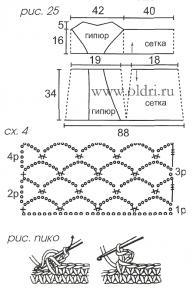 Схемы вязания туники крючком